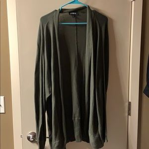 Express Olive Green Cocoon Cardigan